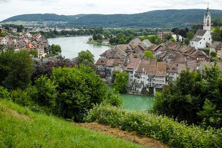 View over beautiful town Laufenburg Switzerland Editorial