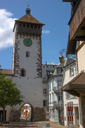 Old tower in Rheinfelden Switzerland