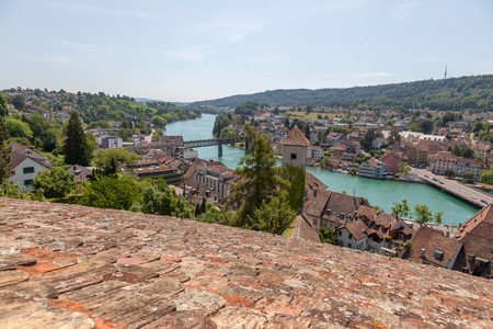 no body: The Munot is a circular 16th century fortification in Schaffhausen, Switzerland
