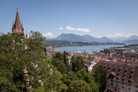 View over Lucerne, Switzerland.