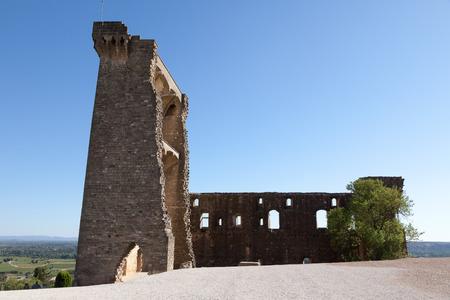 Chateauneuf-du-Pape, castle ruin, Vaucluse, Provance, France