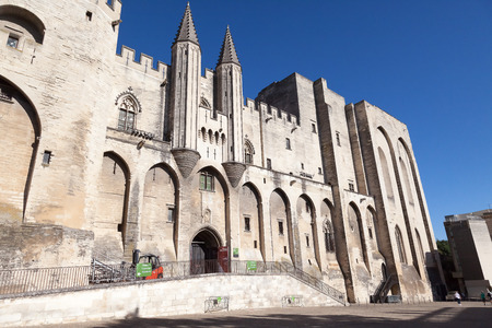 Pope palace in Avignon, Provance, France Editorial