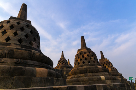 Borobudur Temple Complex, Yogyakarta, Indonesia.