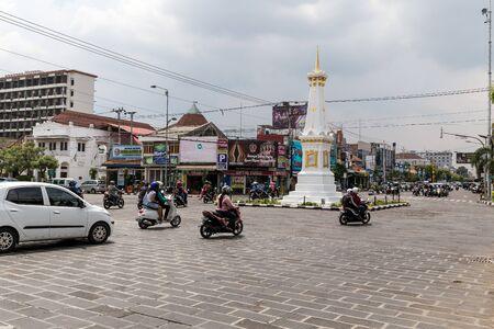 YOGYAKARTA: Traffic in Yogyakarta. Indonesia.