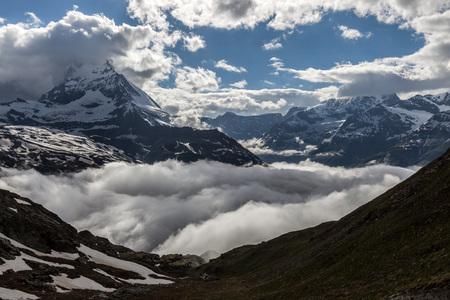View of  Matterhorn in Pennine Alps, Switzerland.