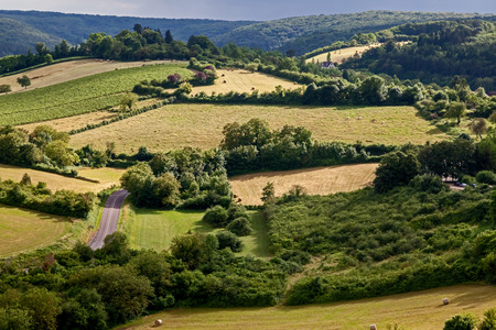 Landscape around the famous town of Vézelay.