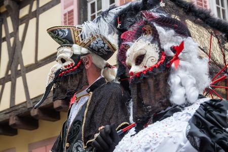 Venice Parade in Riquewihr 2016, Alsace, France.