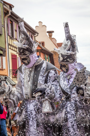 talian: Venice Parade in Riquewihr 2016, Alsace, France.