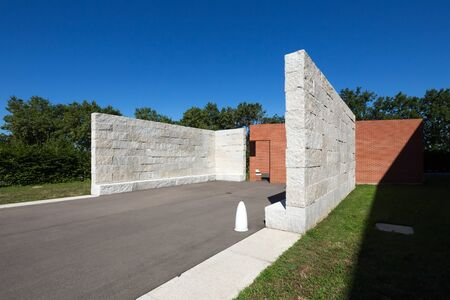 Alvaro-Siza work The promenade with open rooms at the Vitra Campus, Weil am Rhein, Germany. Editorial