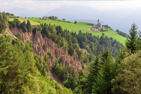 Earth Pyramids, Renon, South Tyrol, Italy.