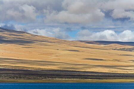 Lake Manasarovar is beautiful and it is the most sacred lake for Tibetans. Tibet, China Stock Photo