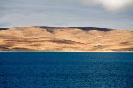 Lake Manasarovar is beautiful and it is the most sacred lake for Tibetans. Tibet, China.