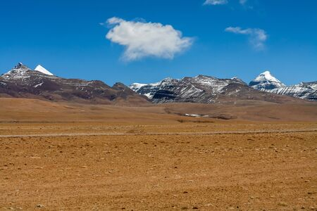 jainism: Snow-covered holy Mount Kailash, Tibetan Buddhism, sacred mountain. Tibet, China.