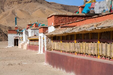 Guru Gyem Gompa is one of the largest and most important Bon-po gompas in Tibet. Stock Photo