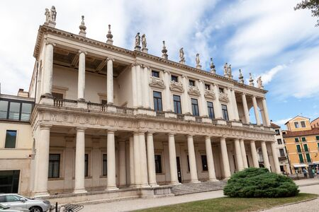Palazzo en Museo Civico de Palazzo Chiericati by Architect Andera Palladio, Vicenza, Italy. Editorial