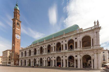 Basilica Palladiana by The Piazza dei Signori, Vicenza, Veneto, Italy. Editorial