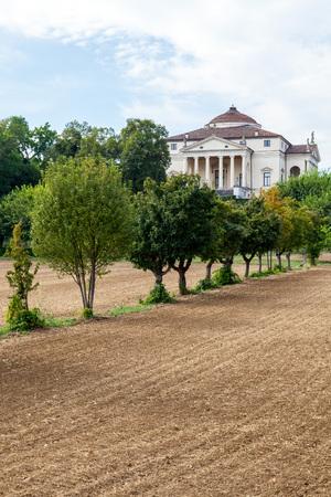 Famous Villa La Rotonda by Italian architect Andrea Palladio, Vicenza, Veneto, Italy. Stock Photo