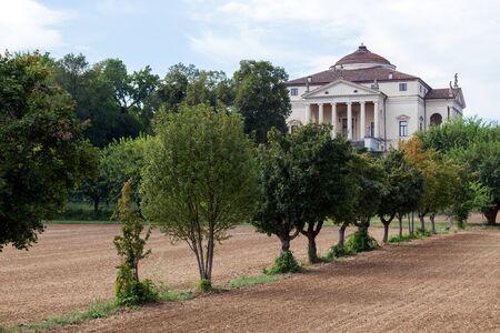 Famous Villa La Rotonda by Italian architect Andrea Palladio, Vicenza, Veneto, Italy. Editorial