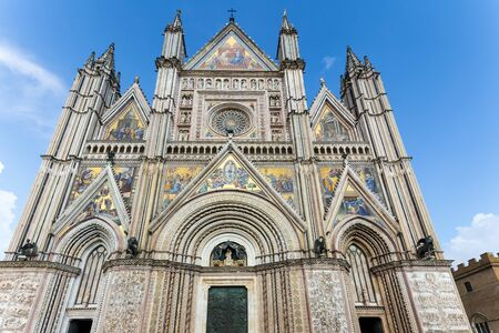 Roman Catholic cathedral build in 14th century, Orvieto in Umbria, Italy.
