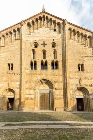 The Basilica of San Michele Maggiore, Pavia, Italy. Stock Photo