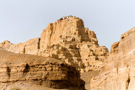 Tsaparang, lost city, Ancient Guge Kingdom in Tibe (Believed to have originated in the early tenth century, the ancient Guge Kingdom was once a dominant power in the region.)