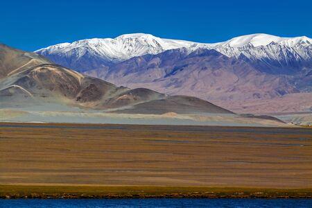 Sand Lake, Karakoram Highway. Xinjiang. China. Stock Photo