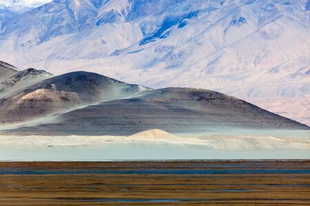 Sand Lake. Its a alpine desert with a small salty lake (Lake Blungkol), Karakoram Highway. Xinjiang. China.