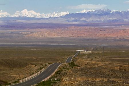 Tian Shan Mountains, outside Kucha, Xinjiang, China.