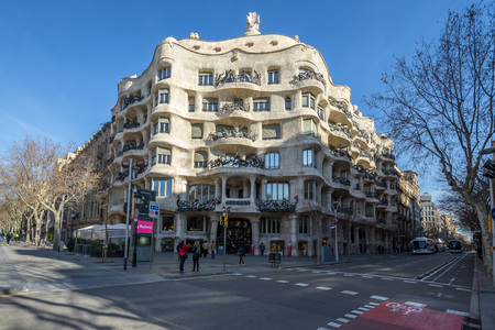 Casa MilA   La Pedrera, Barcelona, Catalonia, Spain. Editorial