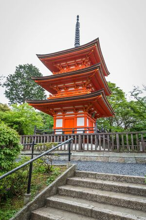 Koyasu Pagoda, Kiyomizudera (Kiyomizu-dera) Temple, Kyoto, Japan. Editorial