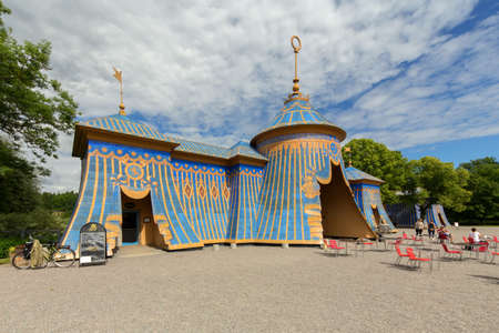 The Copper tents in Haga National Park, Solna, Sweden Editorial