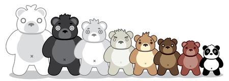 gang: Bear gang vector cute illustration. Illustration