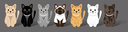 pandilla: Gatos lindos ilustración vectorial pandillas.