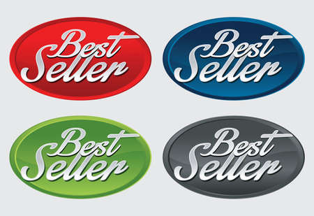 the seller: Best Seller labels  Vector. Illustration
