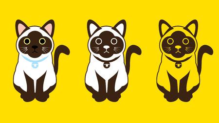 siamese: Siamese cat Thai cat symbol icon Vektor-Grafik.