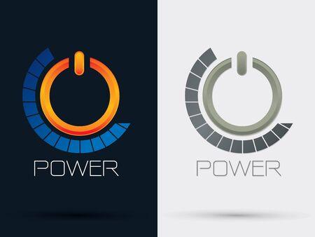 shutdown: Power Button sign symbol icon graphic vector. Illustration