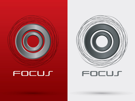 business focus: Focus abstract  sign symbol icon graphic vector.