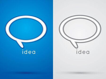 sign symbol: Idea  Think   sign symbol icon graphic vector. Illustration