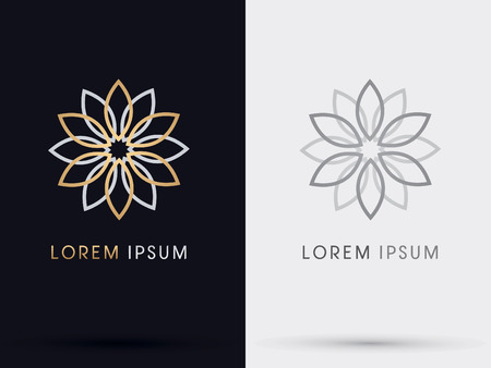 jewelry vector: Flower abstract  symbol icon graphic vector.