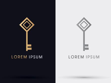 llaves: Tecla del logotipo del icono del s�mbolo gr�fico vectorial.