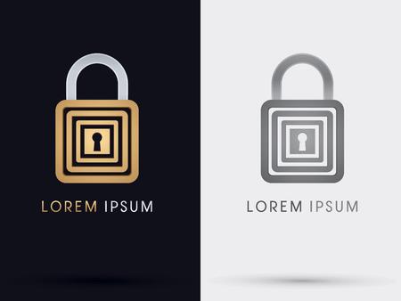company secrets: Lock padlock abstract  symbol icon graphic vector.