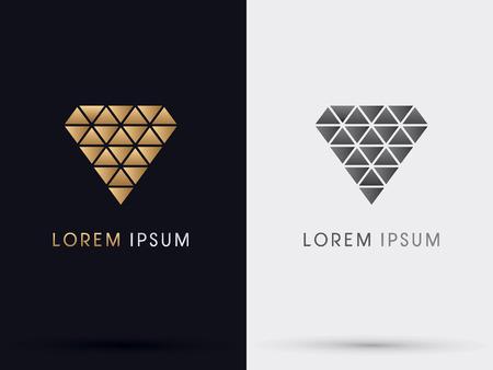 ダイヤモンド抽象的なベクトル。