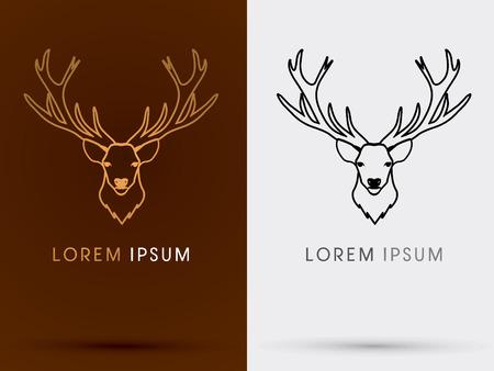 Deer Head Big Horn Sign Logo Symbol Icon Graphic Vector
