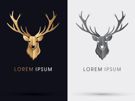 Outline Deer Head Sign Symbol Icon Graphic Vector Royalty Free