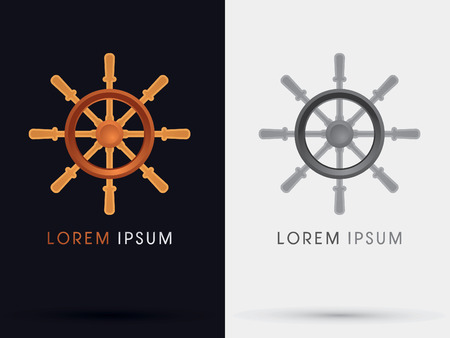 roer: Roer schip symbool vector