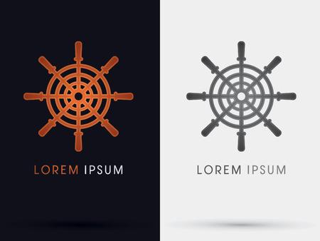 helm: Helm ship symbol vector Illustration