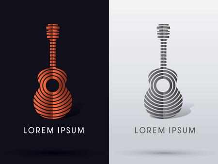 Guitar abstract symbol vector.