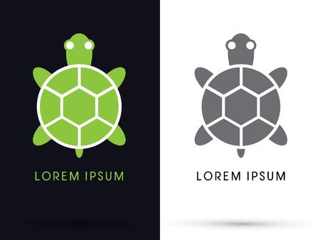 siluetas de animales: Icono de la tortuga s�mbolo vector.