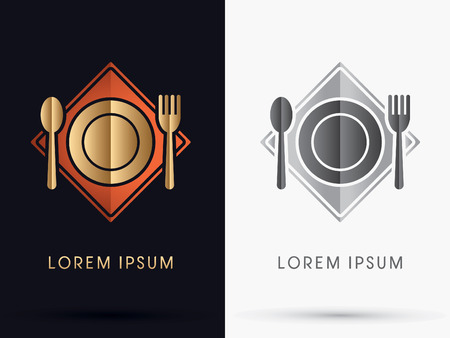expensive food: Restaurant  spoon and fork icon symbol Vector.
