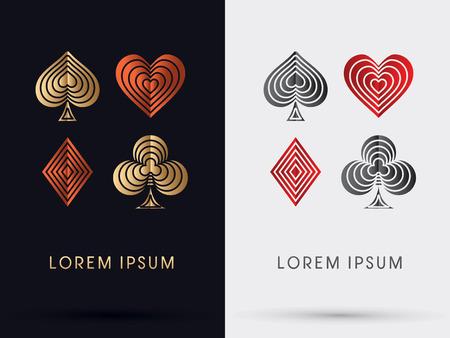 poker card: Poker card icon symbol Vector. Illustration